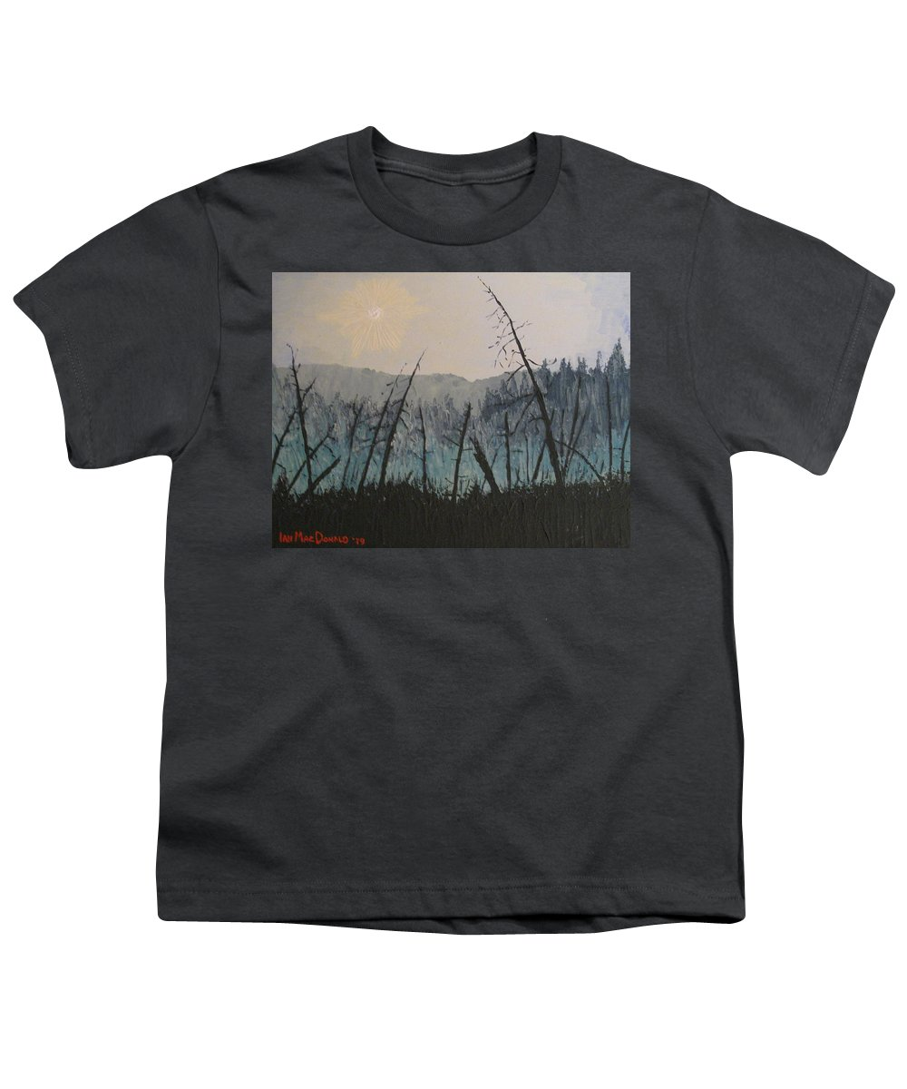 Northern Ontario Youth T-Shirt featuring the painting Manitoulin Beaver Meadow by Ian MacDonald