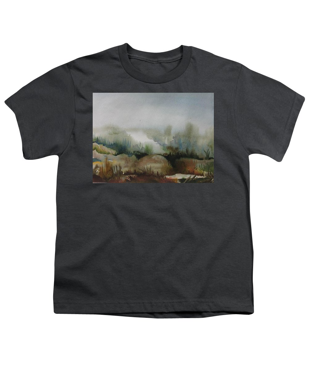 Marsh Youth T-Shirt featuring the painting Marsh by Anna Duyunova