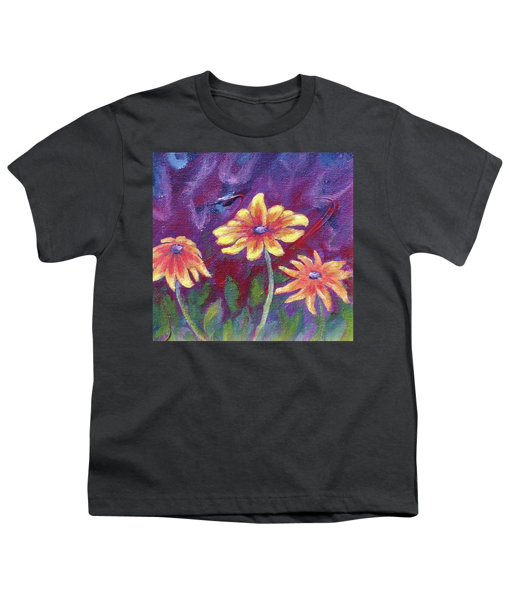 Small Acrylic Painting Youth T-Shirt featuring the painting Monet's Small Composition by Jennifer McDuffie