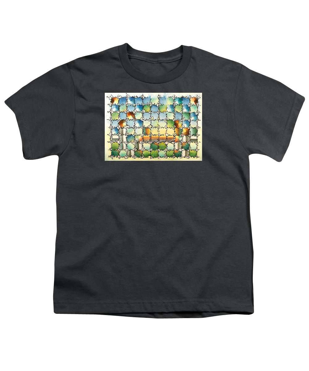 Watercolor Youth T-Shirt featuring the painting Morning Gateway by Dave Martsolf