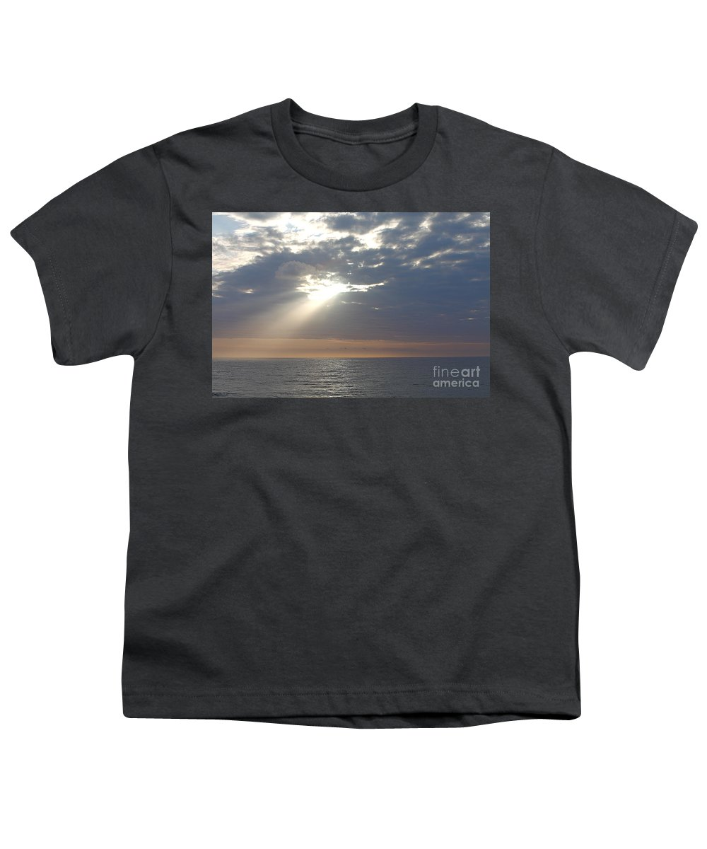 Sky Youth T-Shirt featuring the photograph Morning Sunburst by Nadine Rippelmeyer