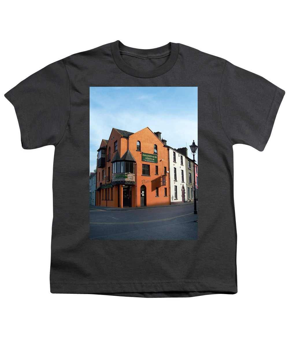 Ireland Youth T-Shirt featuring the photograph Mother India Restaurant Athlone Ireland by Teresa Mucha