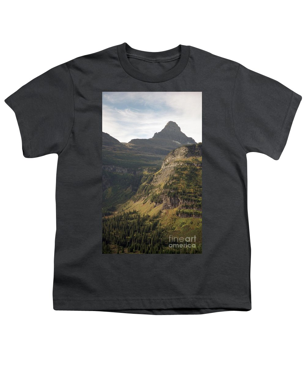 Glacier Youth T-Shirt featuring the photograph Mountain Glacier by Richard Rizzo
