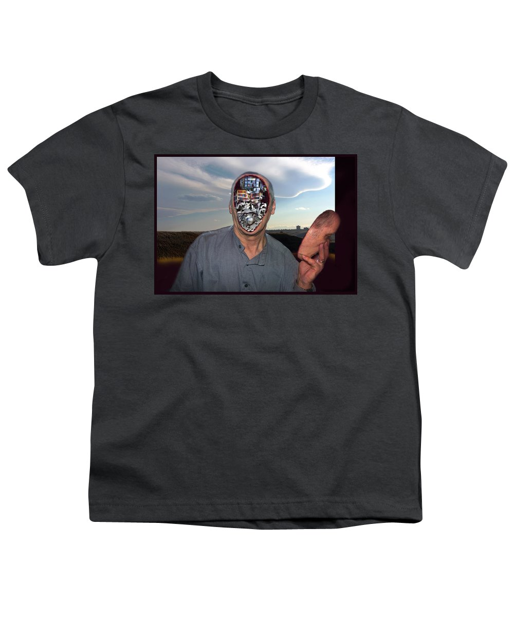 Surrealism Youth T-Shirt featuring the digital art Mr. Robot-otto by Otto Rapp