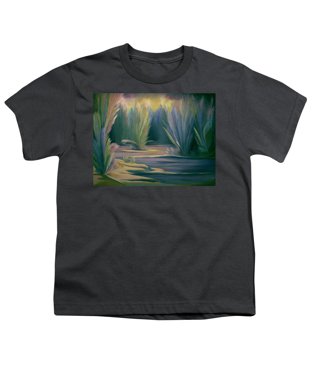 Feathers Youth T-Shirt featuring the painting Mural Field Of Feathers by Nancy Griswold