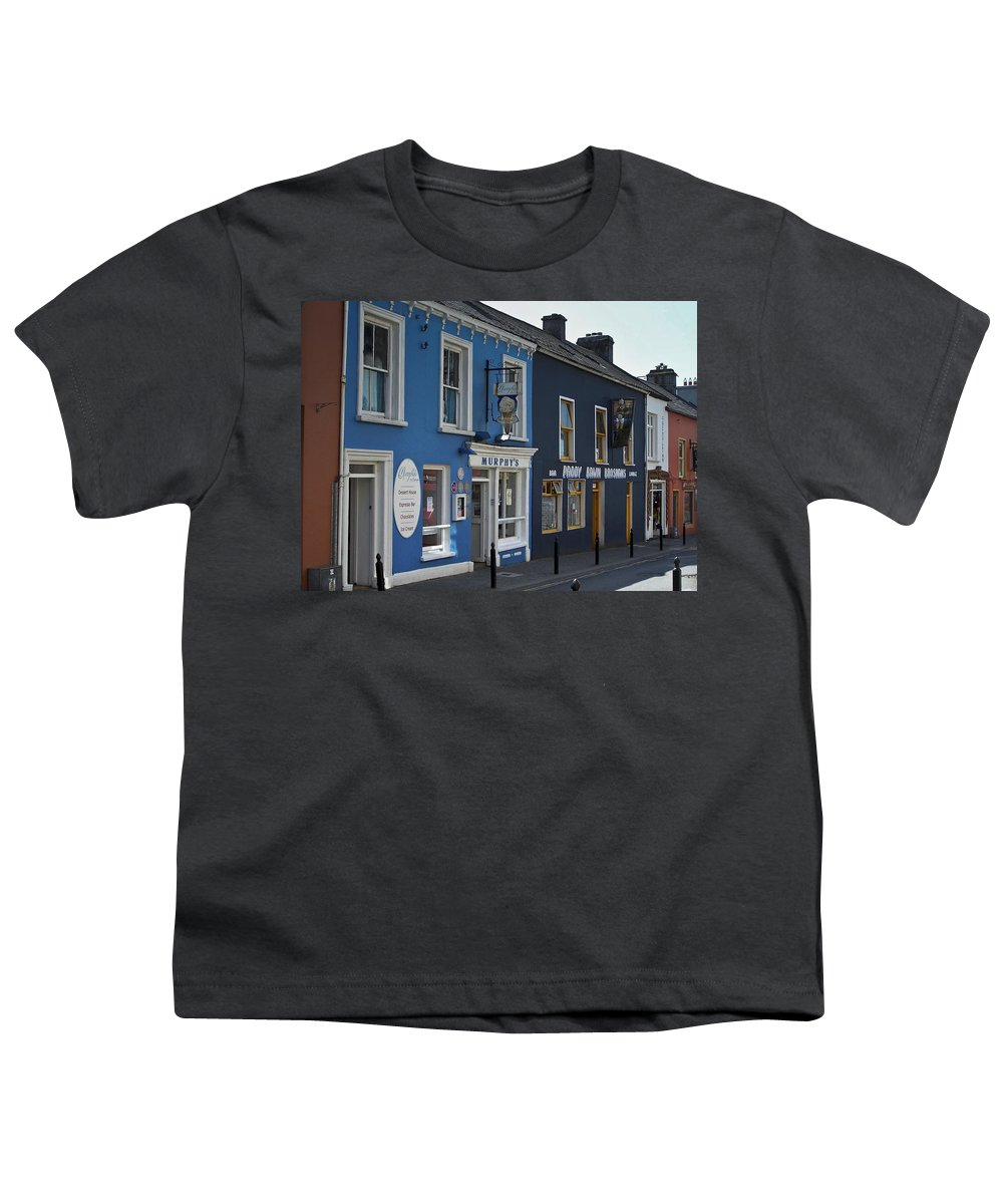 Irish Youth T-Shirt featuring the photograph Murphys Ice Cream Dingle Ireland by Teresa Mucha