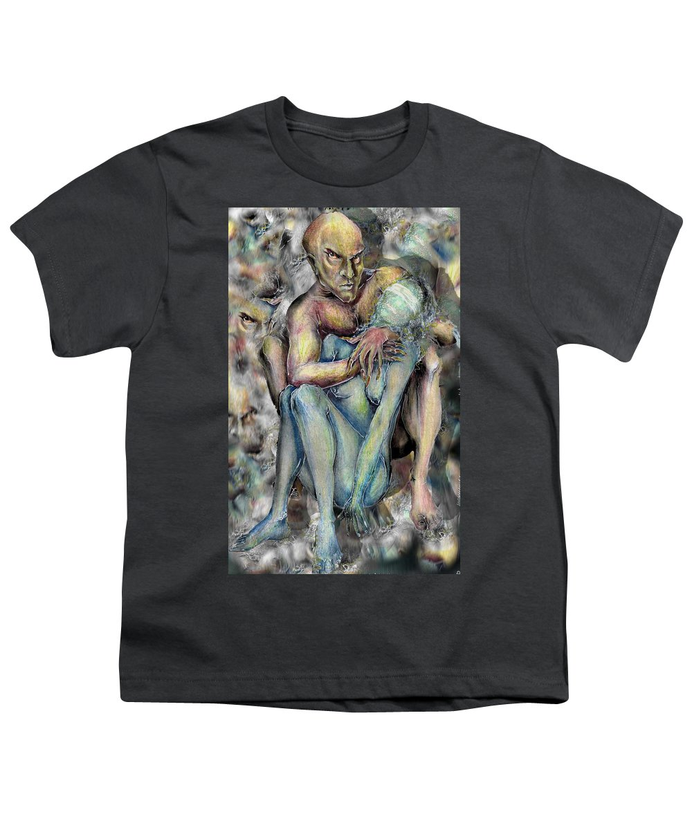 Demons Love Passion Control Posession Woman Lust Youth T-Shirt featuring the mixed media My Precious by Veronica Jackson