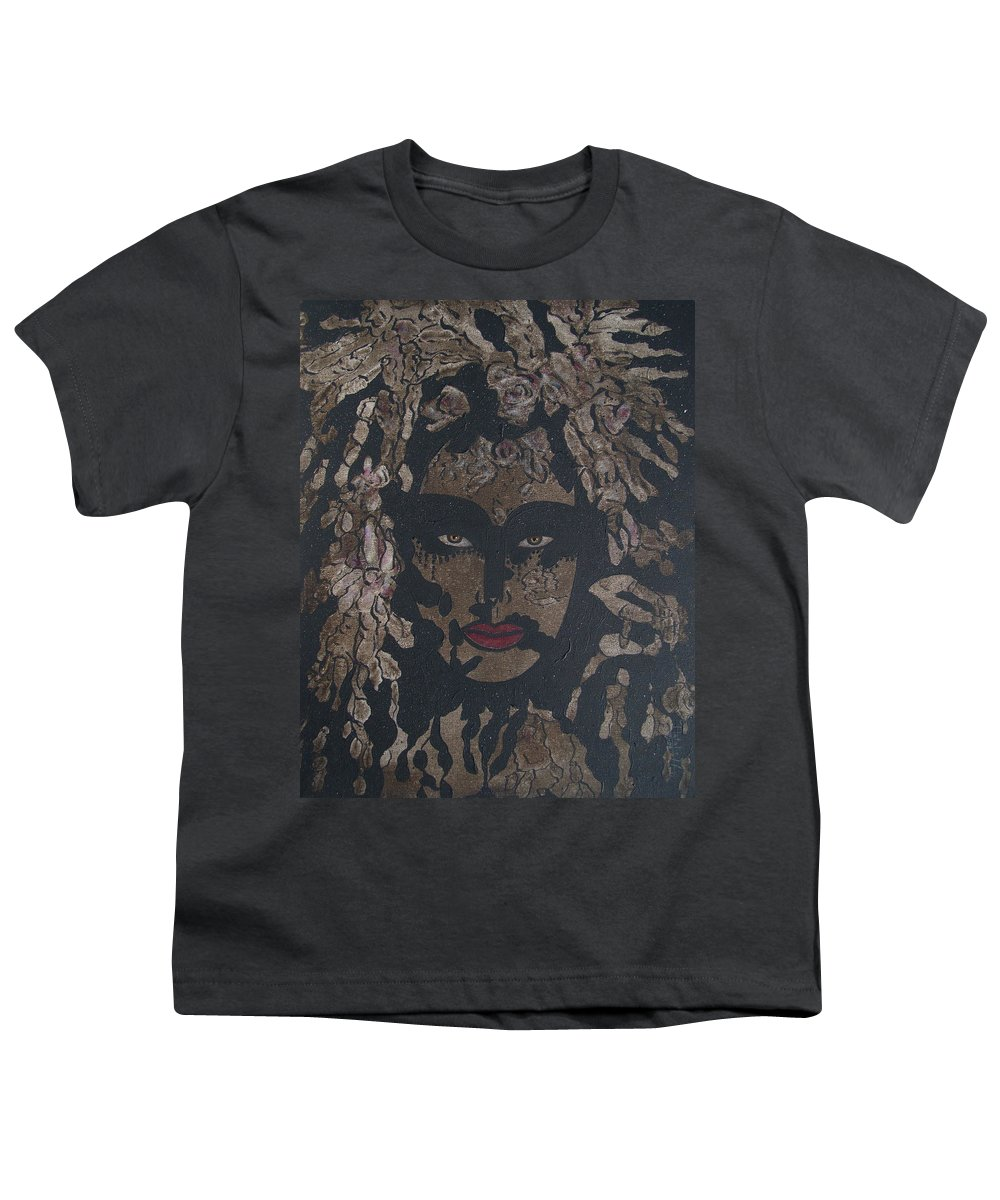 Figurative Youth T-Shirt featuring the painting Mysterious Desire by Natalie Holland