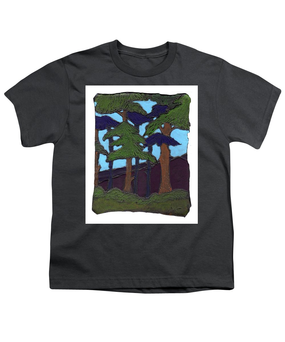 Tree Youth T-Shirt featuring the painting Northern Woods by Wayne Potrafka