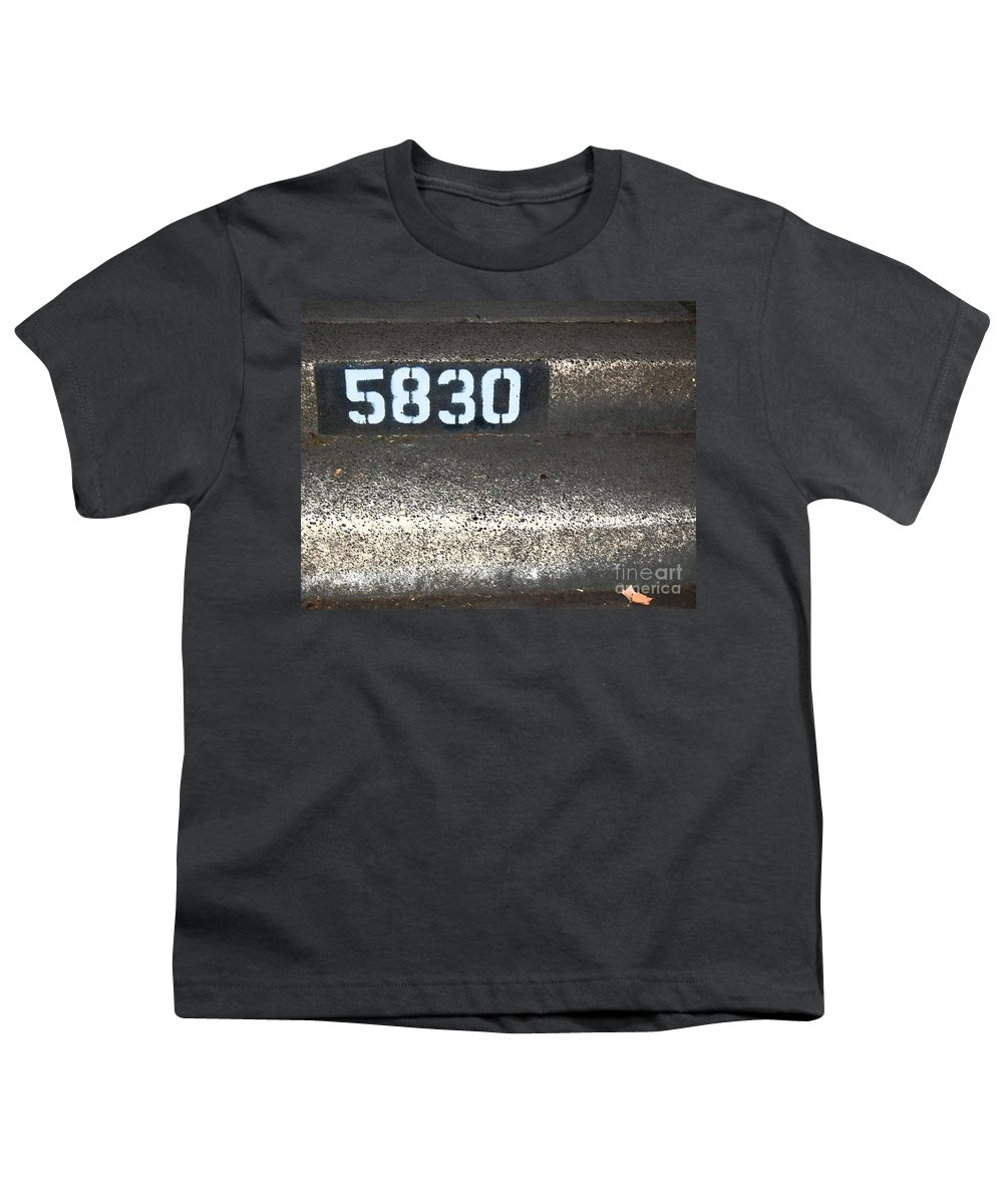 Numbers Youth T-Shirt featuring the photograph Numbers by Debbi Granruth