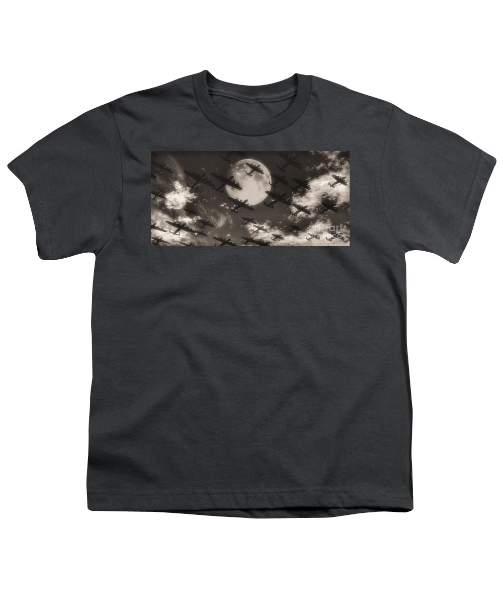 Aviaton Youth T-Shirt featuring the digital art Operation Moonlight by Richard Rizzo