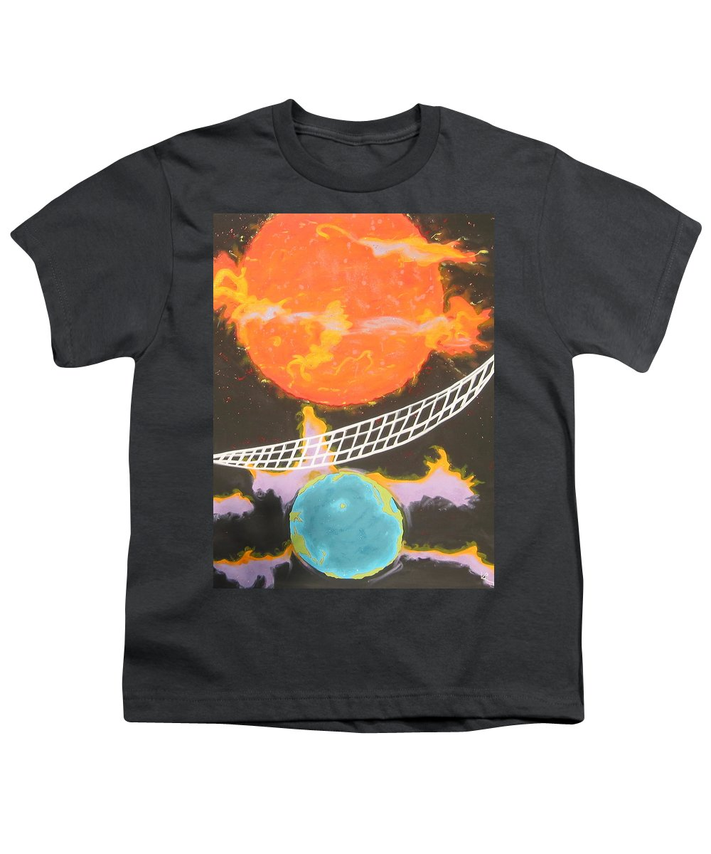 Environment Youth T-Shirt featuring the painting Ozone Net by V Boge