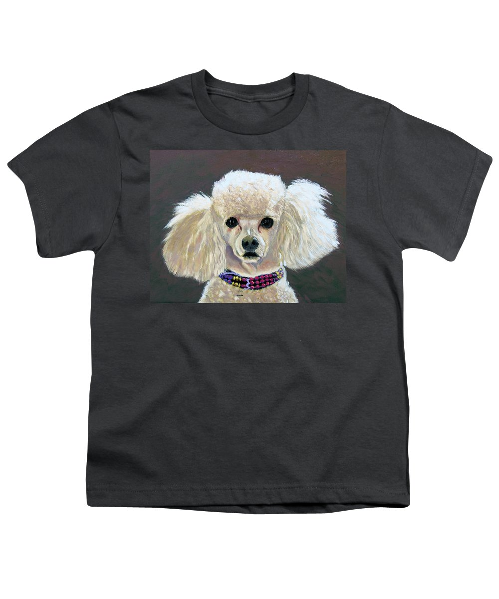 Dog Youth T-Shirt featuring the painting Pebbles by Stan Hamilton