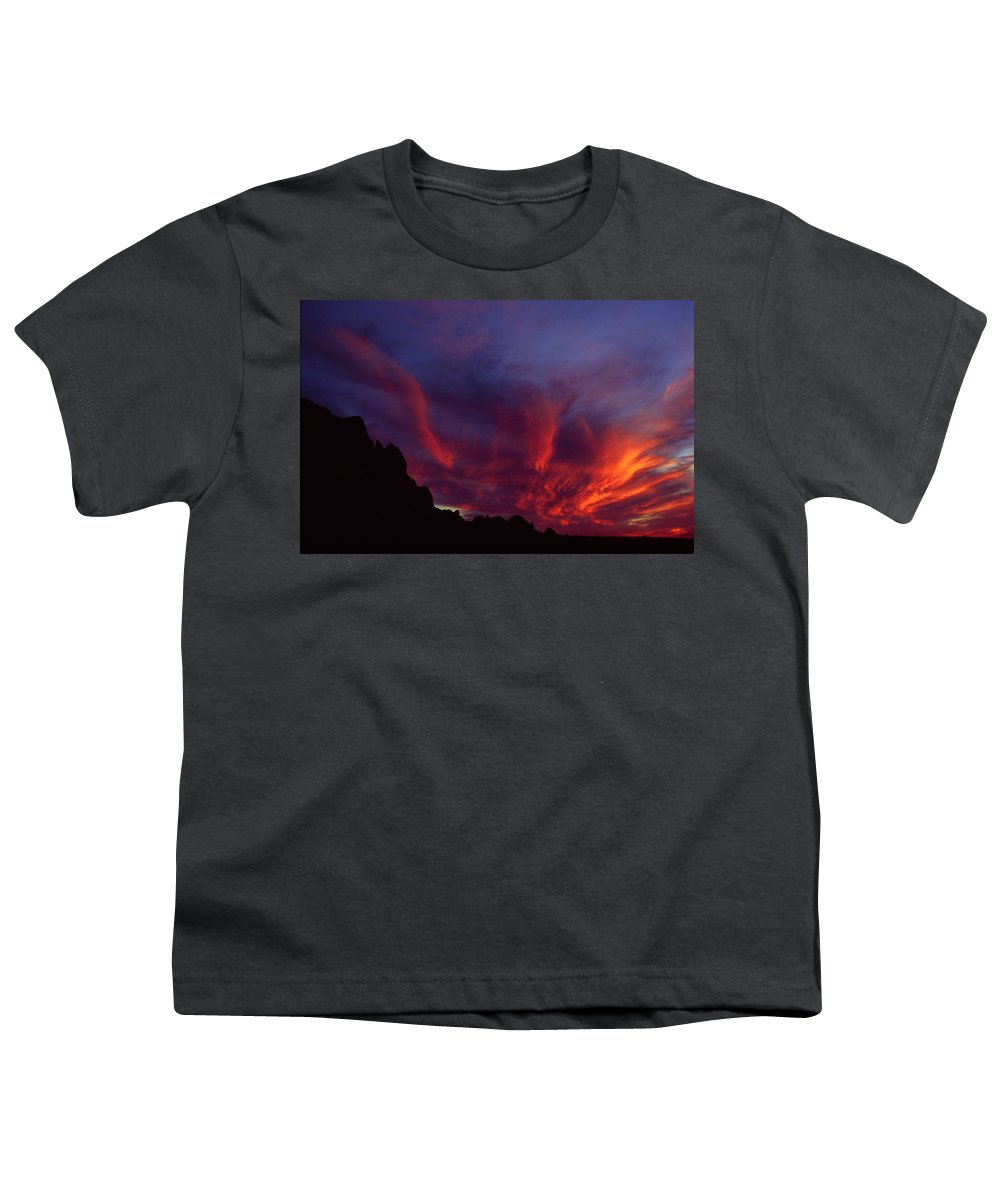 Arizona Youth T-Shirt featuring the photograph Phoenix Risen by Randy Oberg