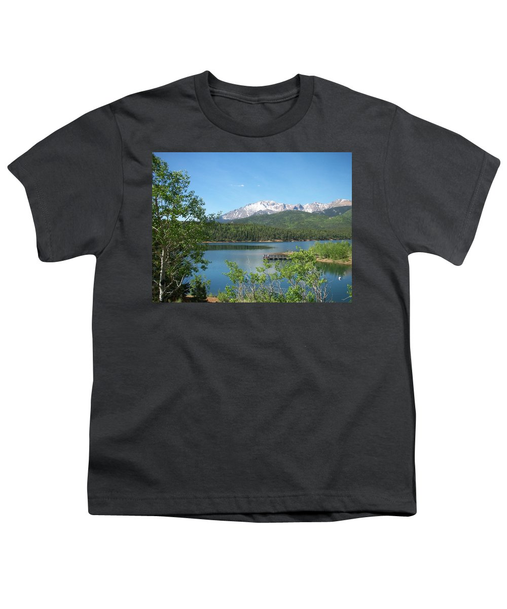 Colorado Youth T-Shirt featuring the photograph Pike's Peak by Anita Burgermeister