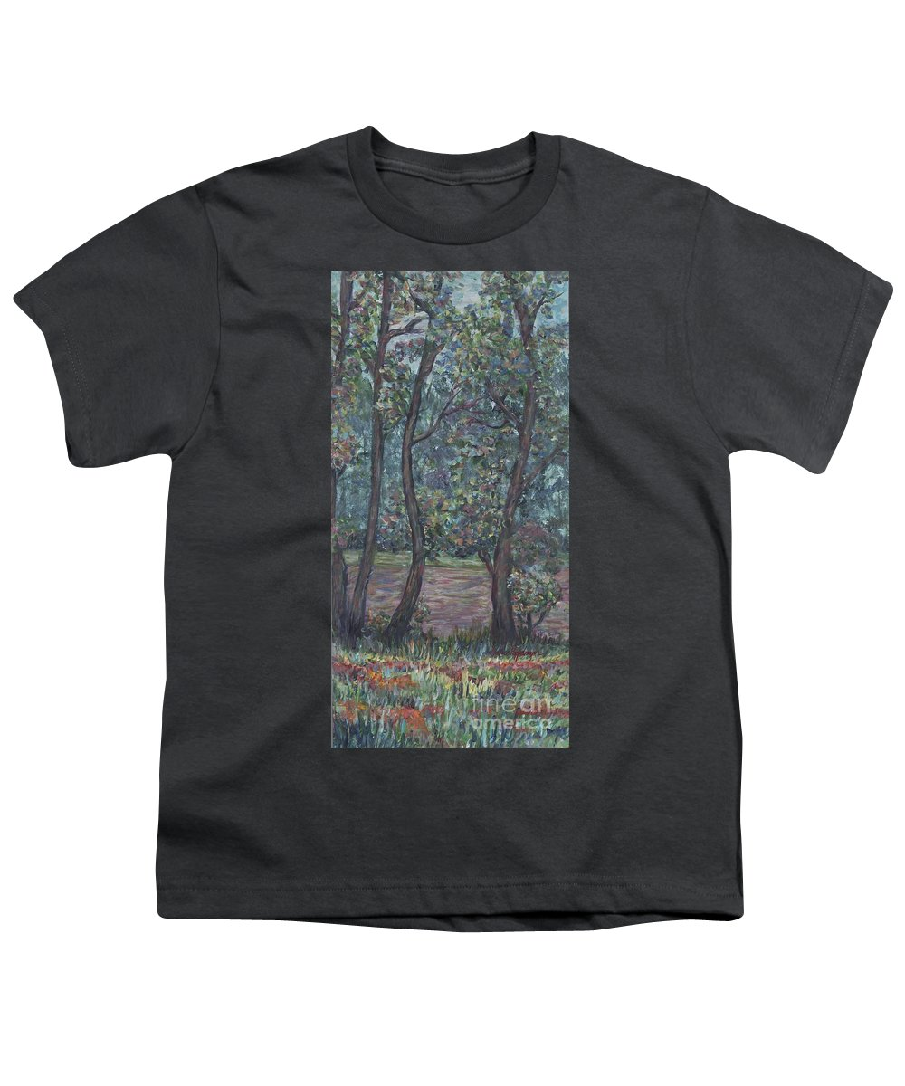 Landscape Youth T-Shirt featuring the painting Provence Flowers by Nadine Rippelmeyer