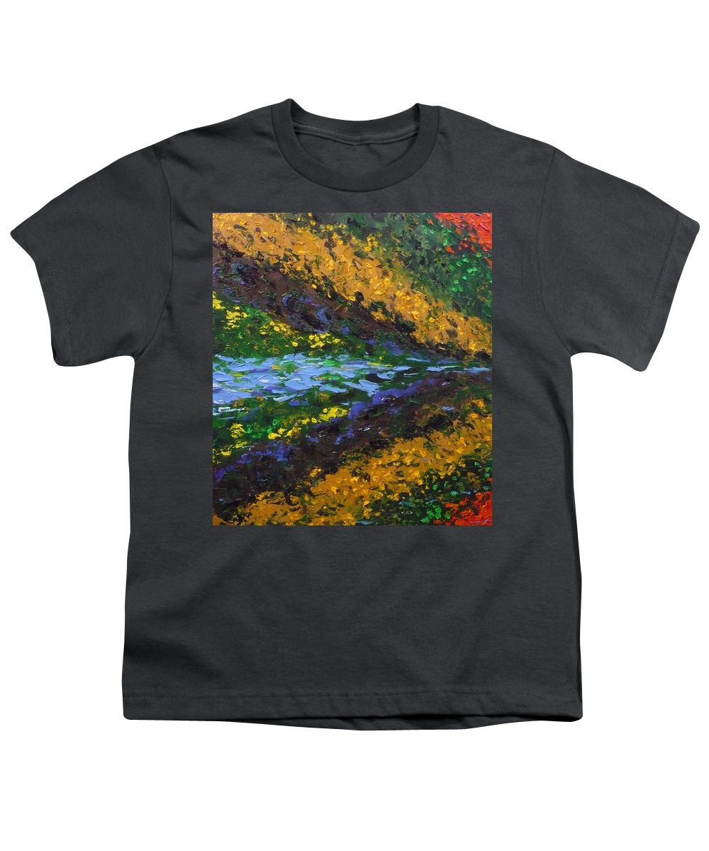 Landscape Youth T-Shirt featuring the painting Reflection One by Ericka Herazo