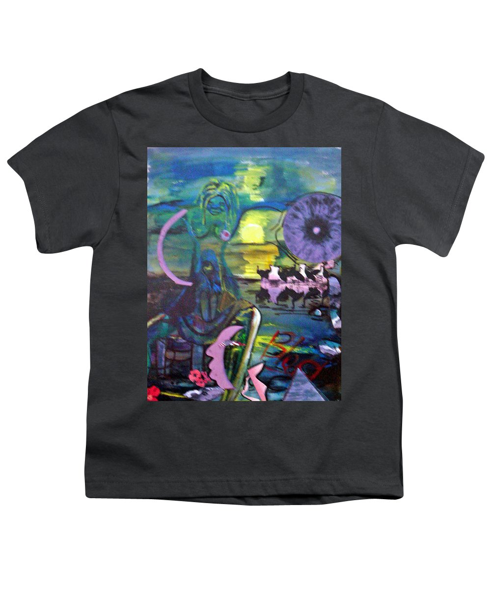 Water Youth T-Shirt featuring the painting Remembering 9-11 by Peggy Blood