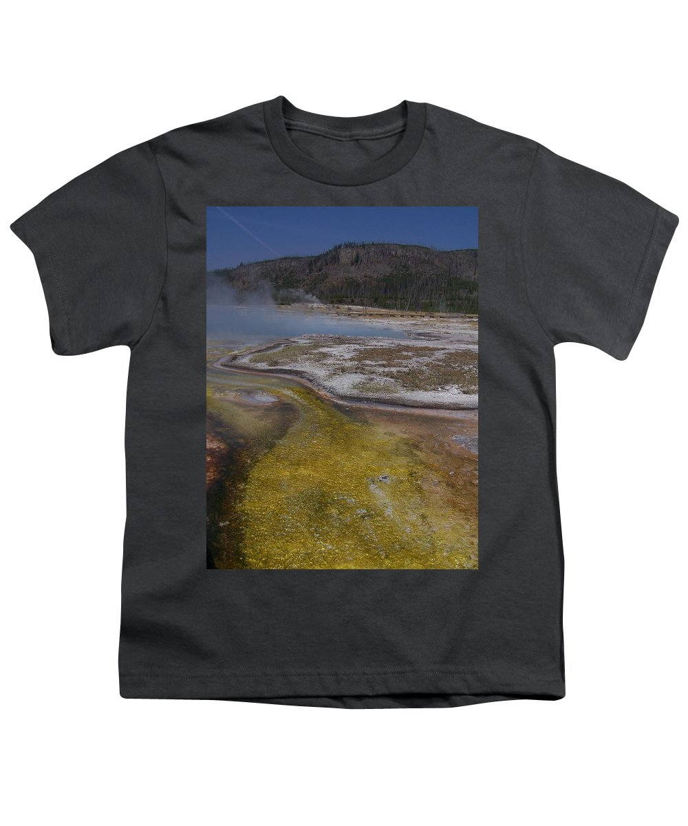 Geyser Youth T-Shirt featuring the photograph River Of Gold by Gale Cochran-Smith