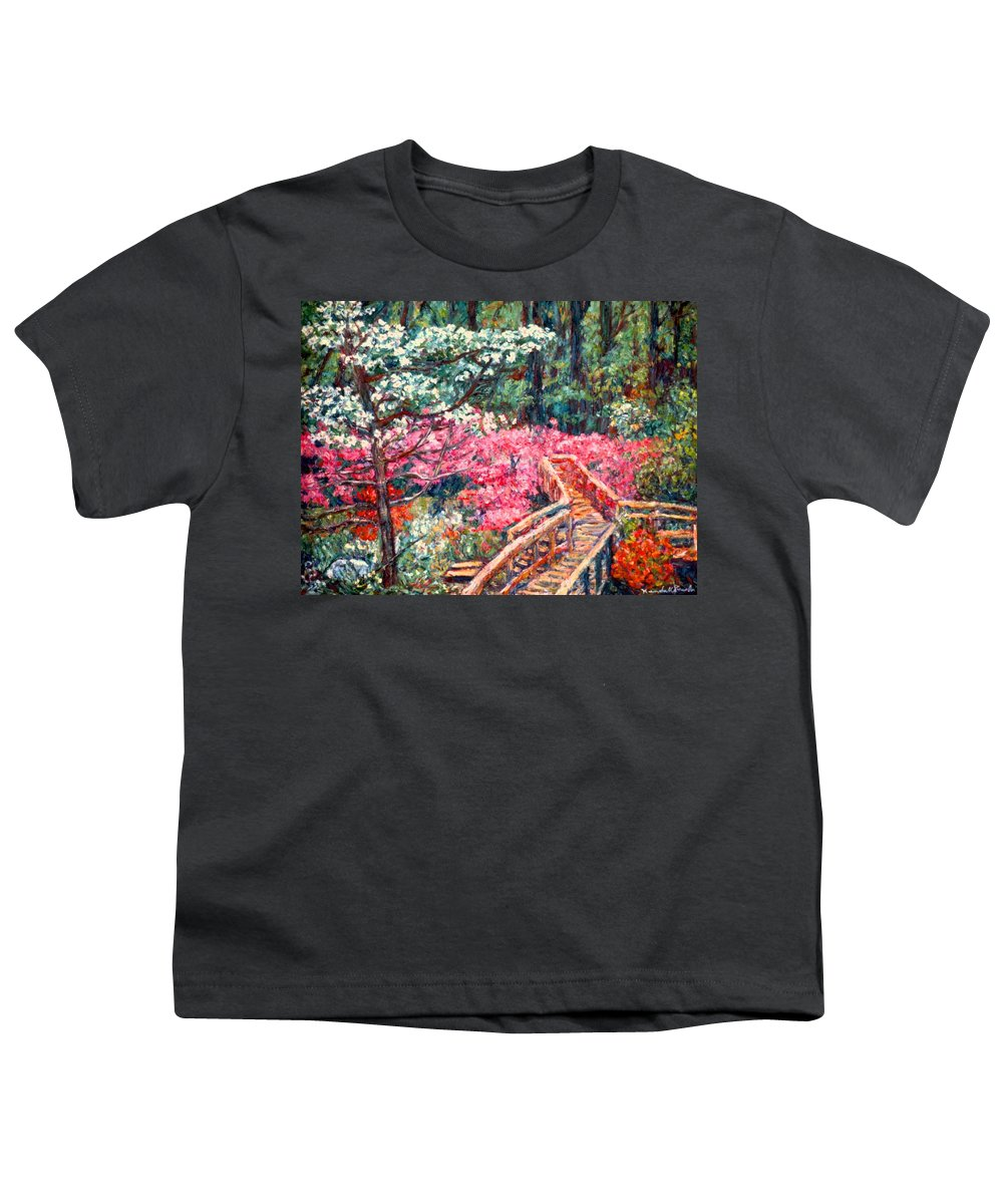 Garden Youth T-Shirt featuring the painting Roanoke Beauty by Kendall Kessler