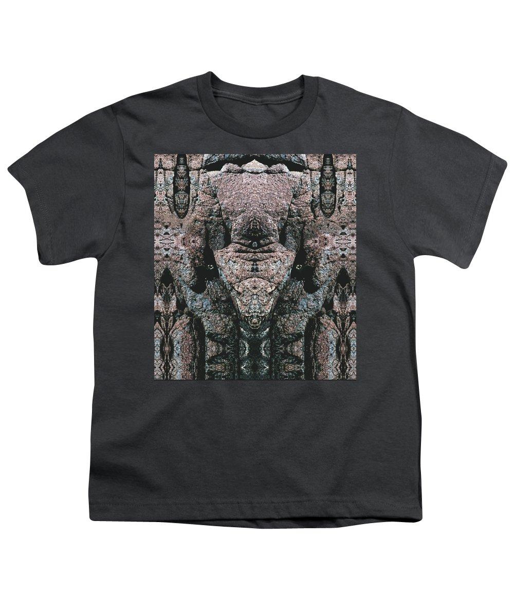 Rocks Youth T-Shirt featuring the digital art Rock Gods Elephant Stonemen Of Ogunquit by Nancy Griswold