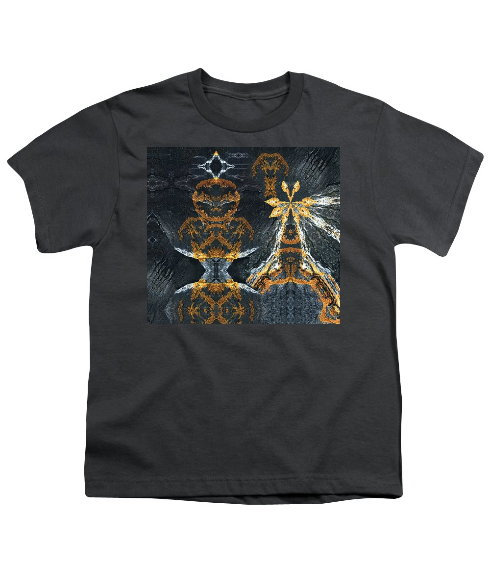 Rocks Youth T-Shirt featuring the digital art Rock Gods Lichen Lady And Lords by Nancy Griswold