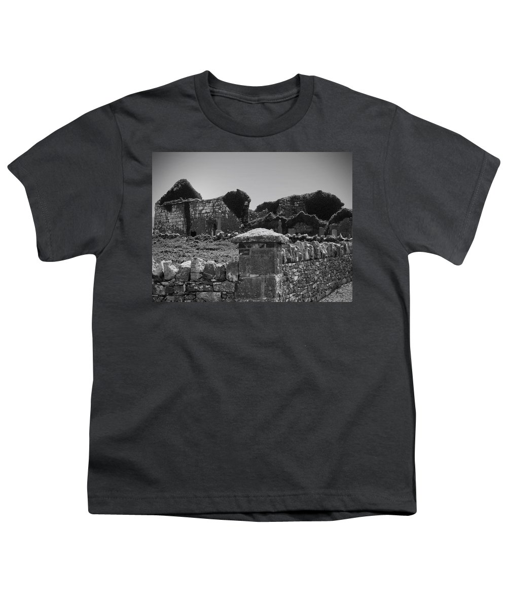 Irish Youth T-Shirt featuring the photograph Ruins In The Burren County Clare Ireland by Teresa Mucha