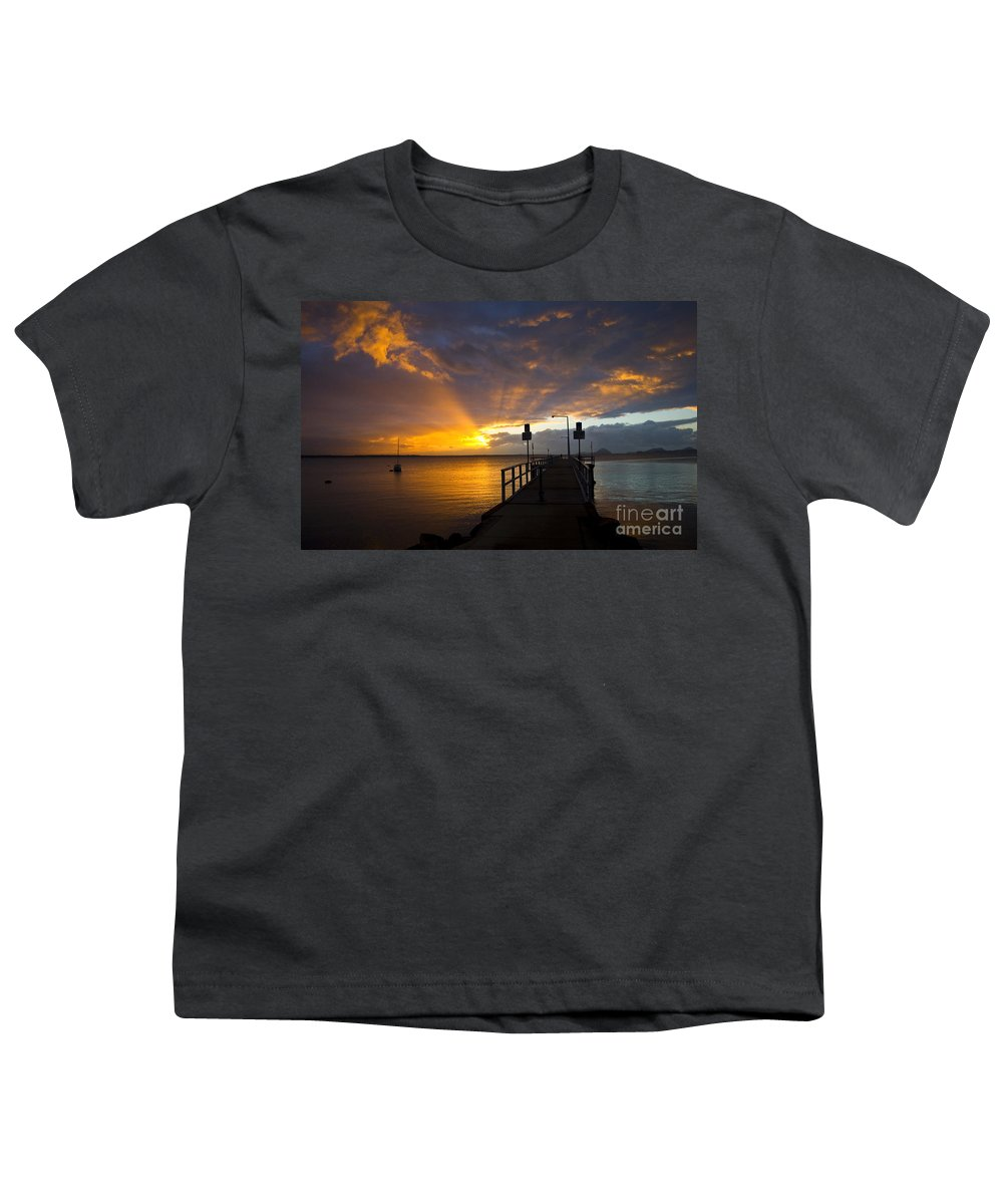 Sunrise Youth T-Shirt featuring the photograph Salamander Bay Sunrise by Sheila Smart Fine Art Photography