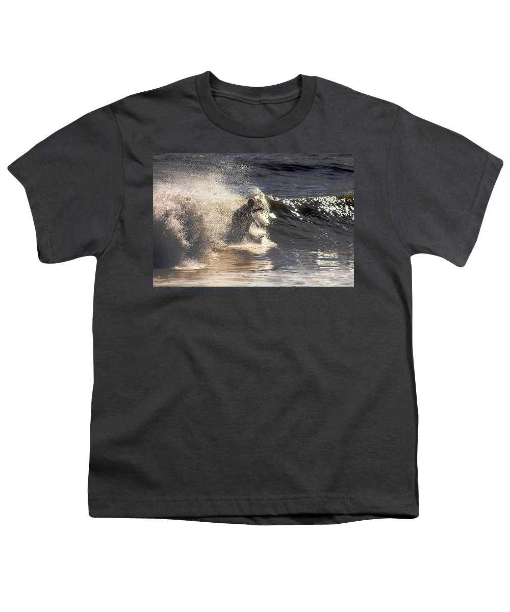 Clay Youth T-Shirt featuring the photograph Salt Spray Surfing by Clayton Bruster