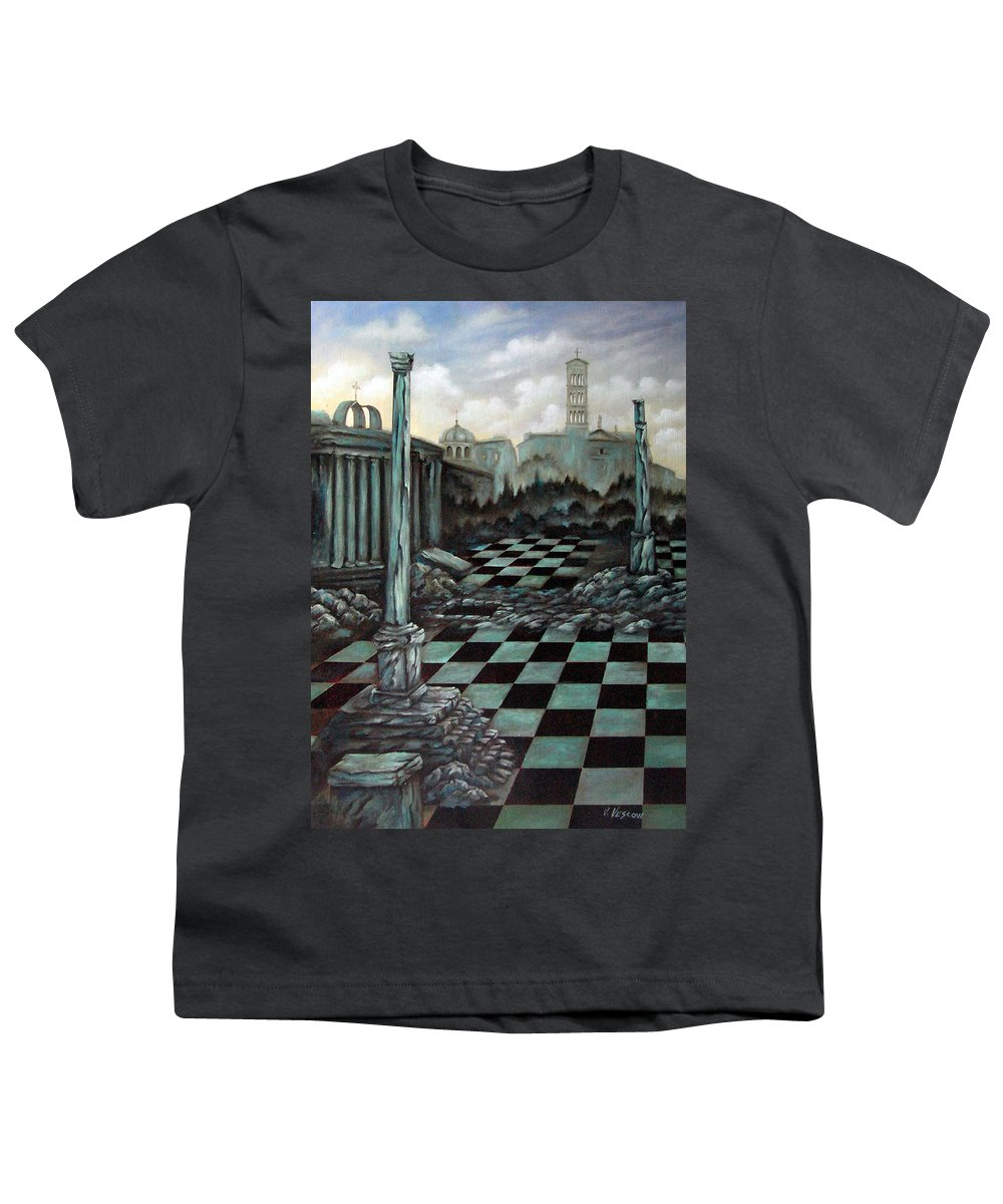 Surreal Youth T-Shirt featuring the painting Sepulchre by Valerie Vescovi