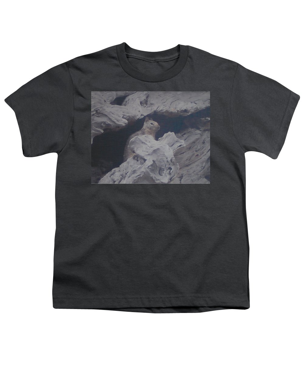 Squirrel Youth T-Shirt featuring the photograph Silent Observer by Pharris Art