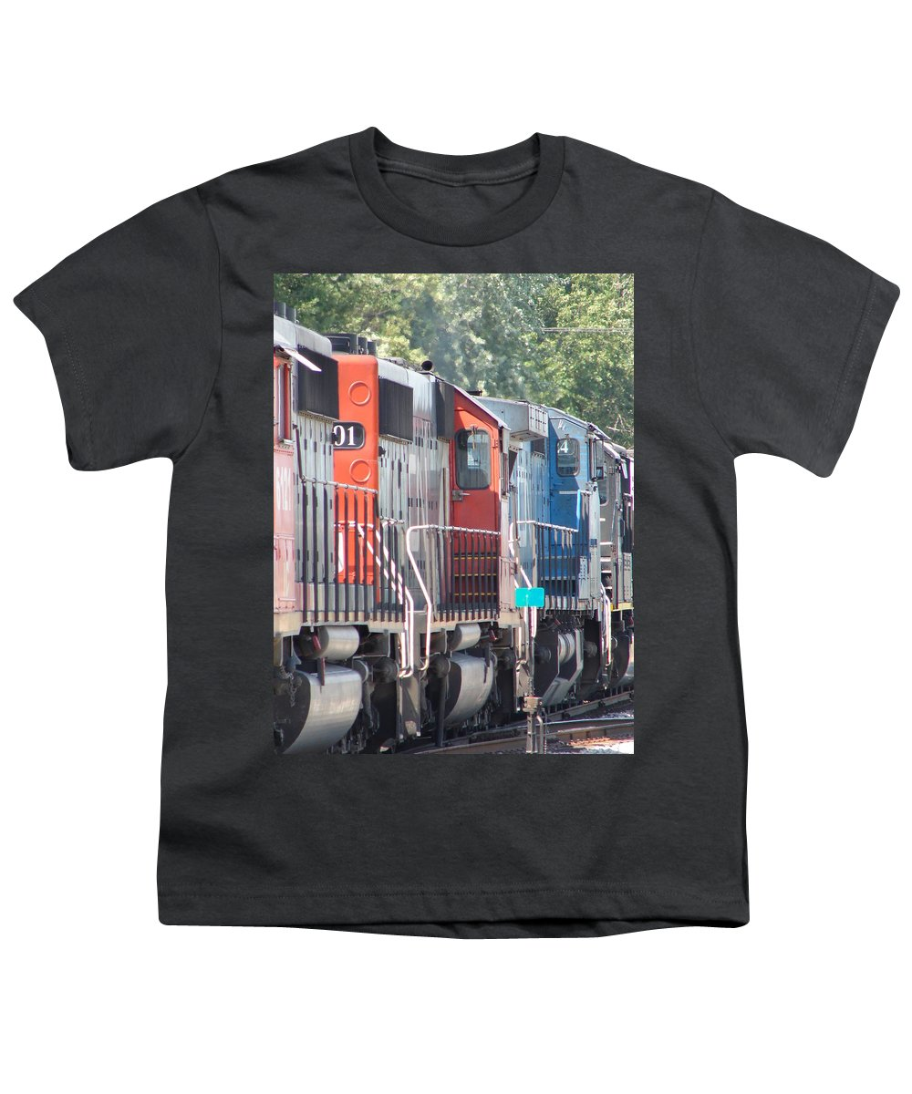 Youth T-Shirt featuring the photograph Sitting In The Switching Yard by J R  Seymour