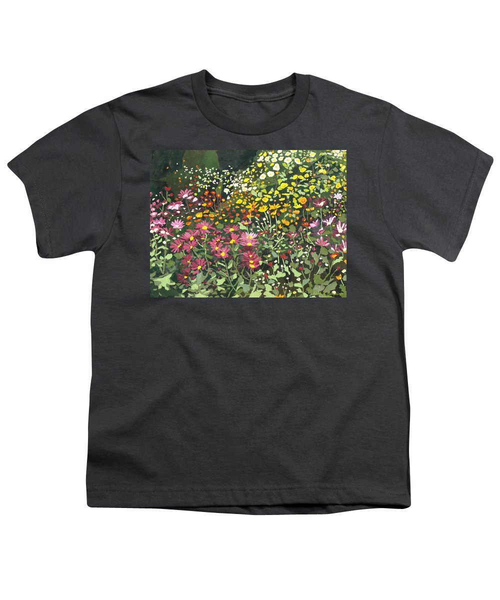 Floral Youth T-Shirt featuring the painting Smith Mums by Leah Tomaino