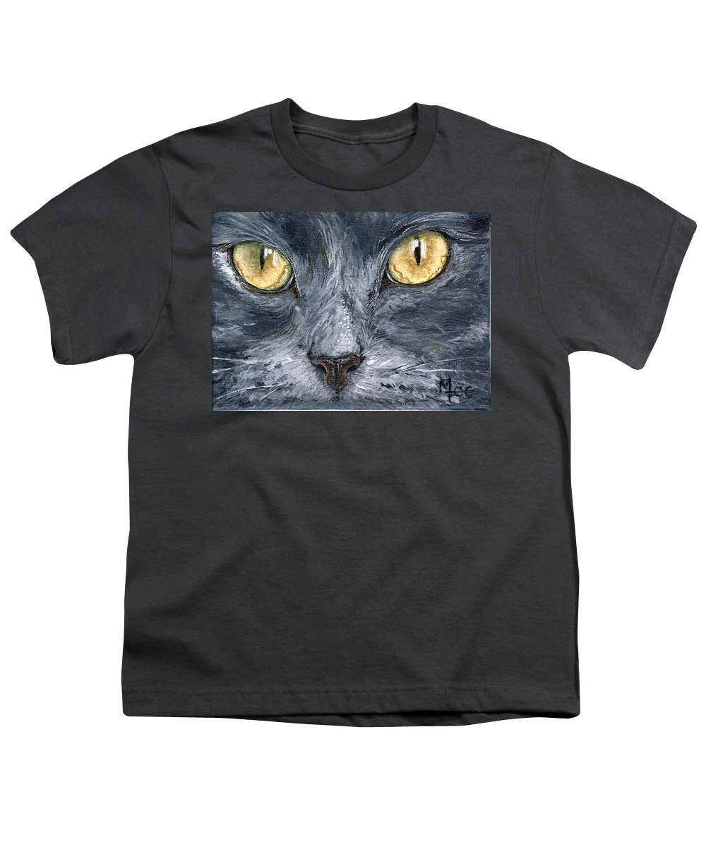 Charity Youth T-Shirt featuring the painting Smokey by Mary-Lee Sanders