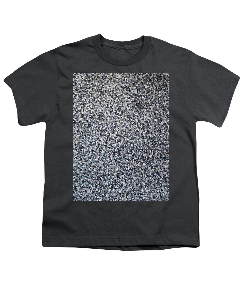Abstract Youth T-Shirt featuring the painting Soft Grey Scale by Dean Triolo