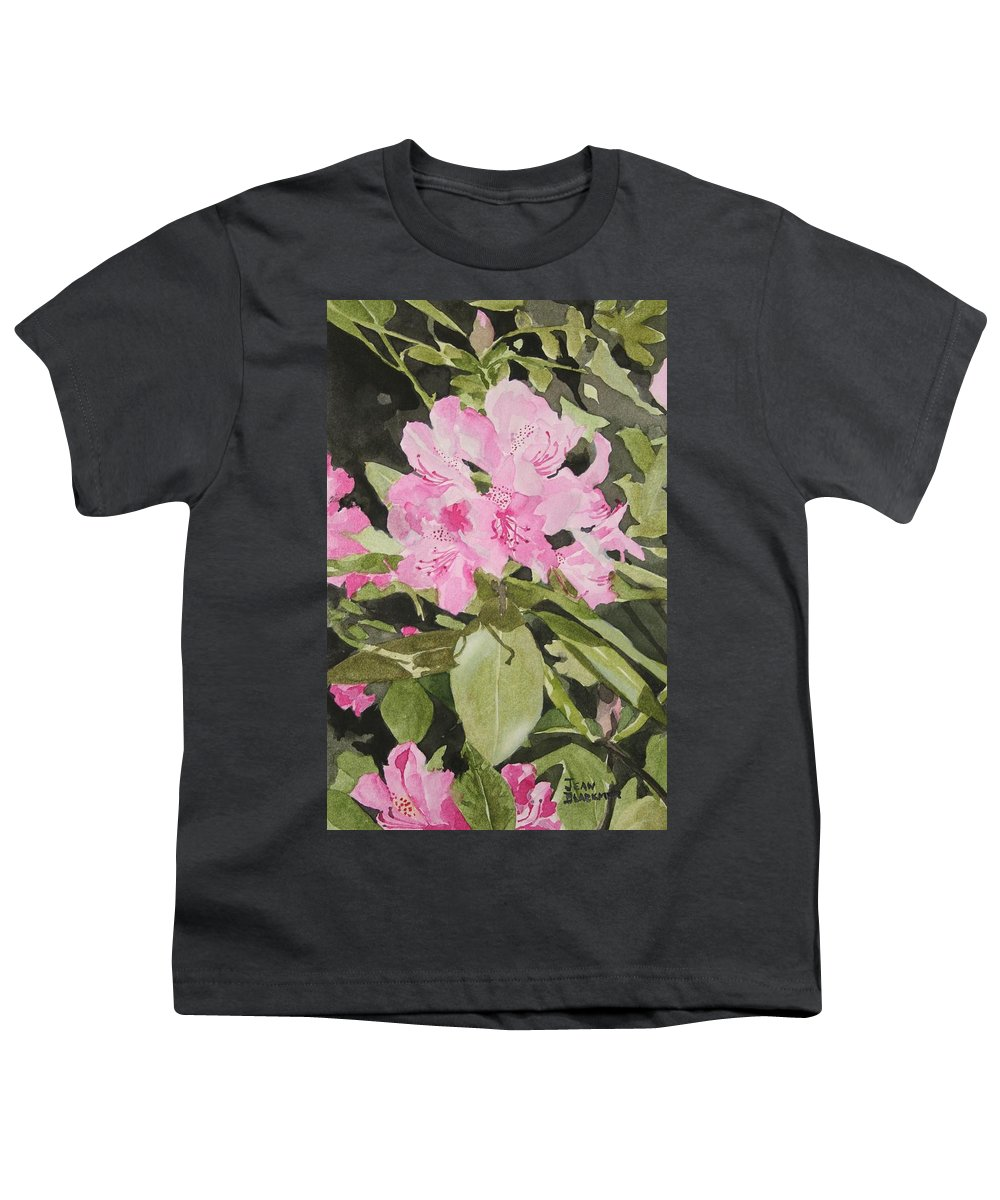 Flowers Youth T-Shirt featuring the painting Spring At The Cabin by Jean Blackmer