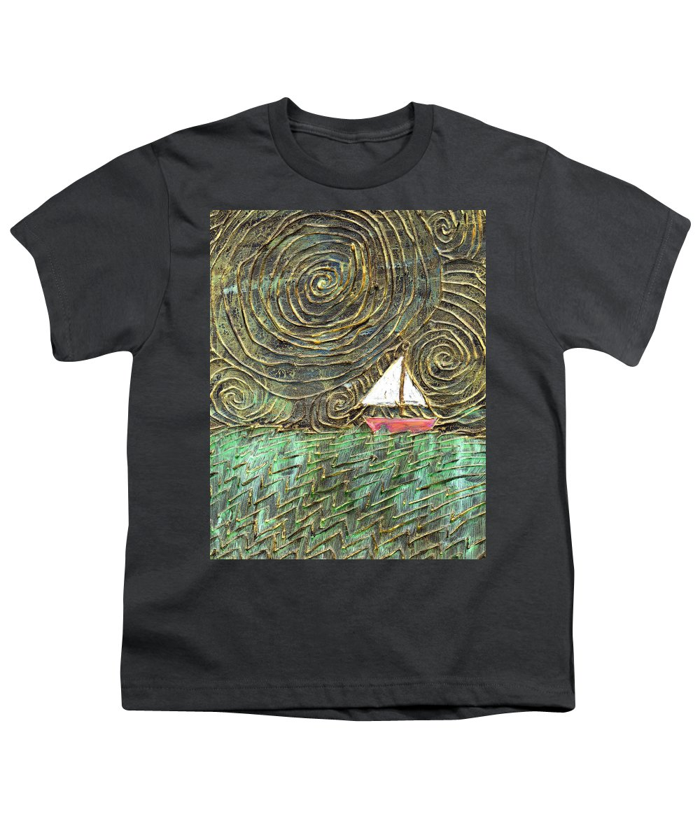 Storm Youth T-Shirt featuring the painting Stormy Night by Wayne Potrafka