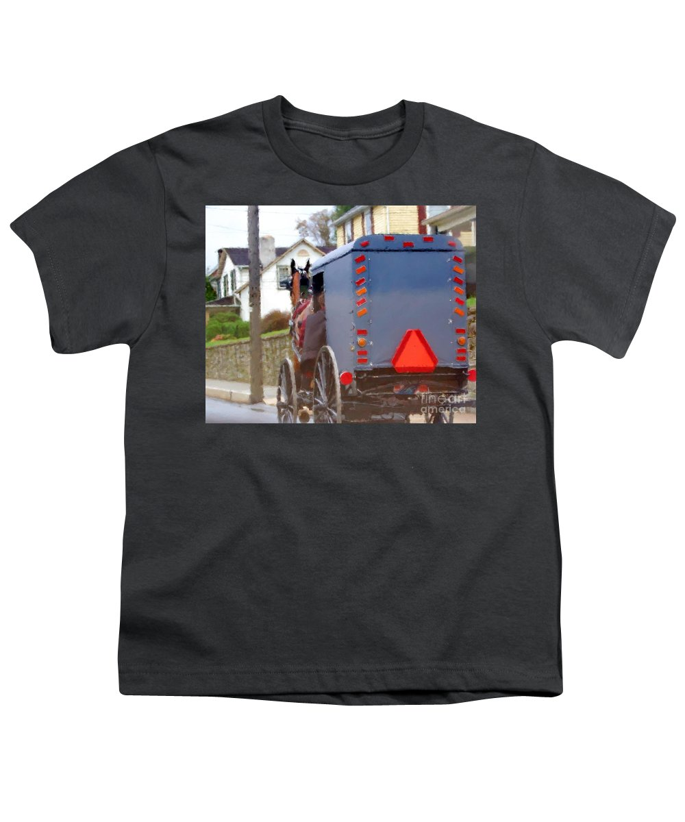 Amish Youth T-Shirt featuring the photograph Sunday Courting by Debbi Granruth