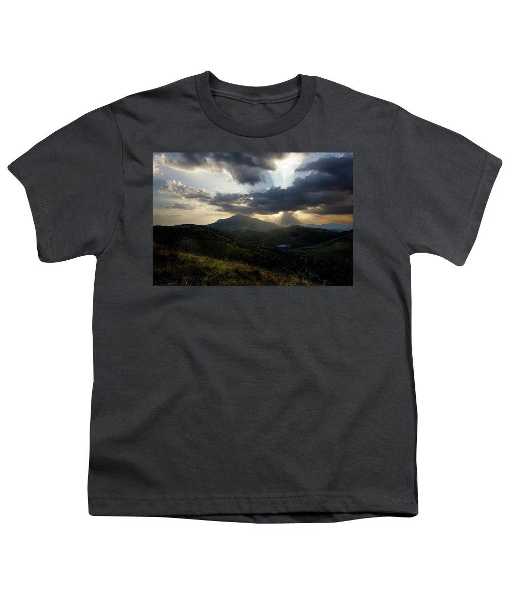 Indian Springs Youth T-Shirt featuring the photograph Sunset over Indian Springs by Roy Nierdieck