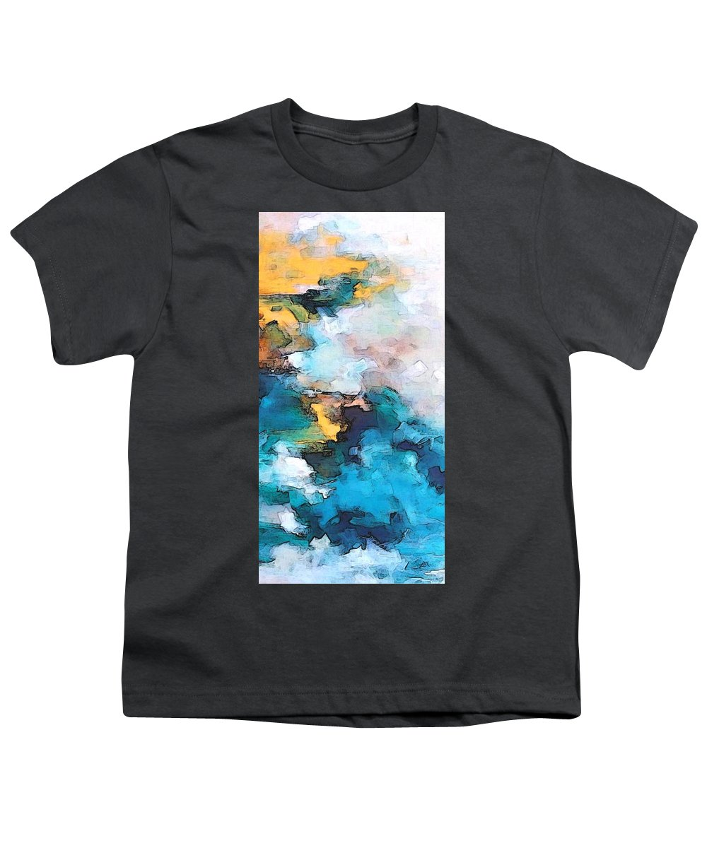 Abstract Youth T-Shirt featuring the digital art Sweet Memory Shades by Linda Mears