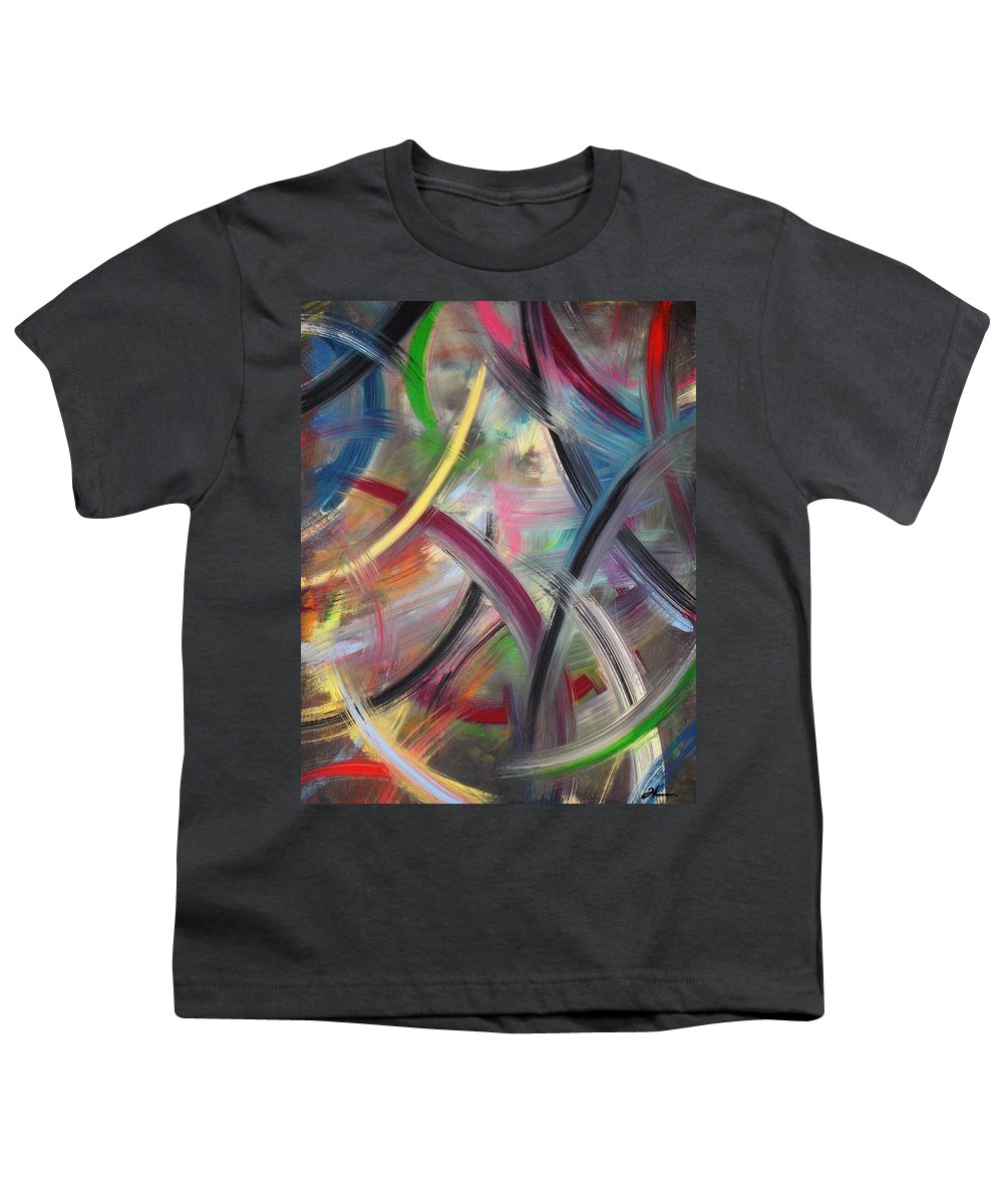 Acrylic Youth T-Shirt featuring the painting Swish by Todd Hoover