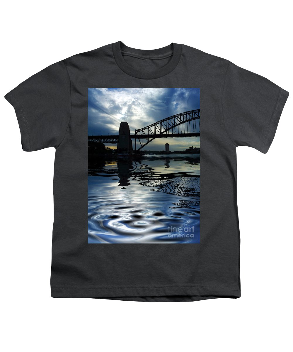 Sydney Harbour Australia Bridge Reflection Youth T-Shirt featuring the photograph Sydney Harbour Bridge Reflection by Sheila Smart Fine Art Photography