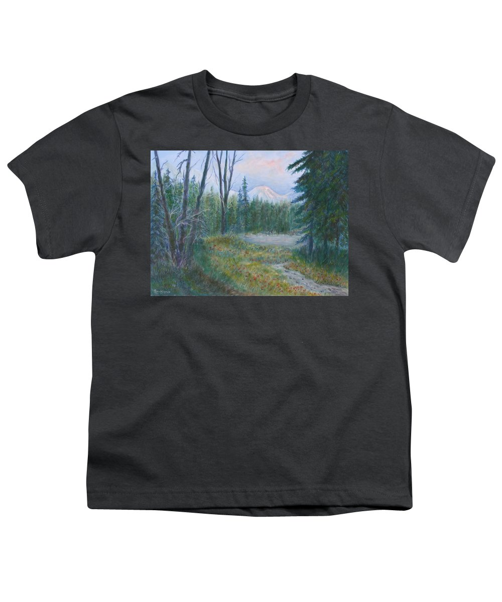 Landscape Youth T-Shirt featuring the painting Teton Valley by Ben Kiger