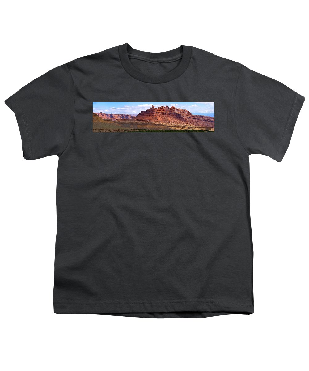 Landscape Utah Youth T-Shirt featuring the photograph The Battleship Utah by Heather Coen
