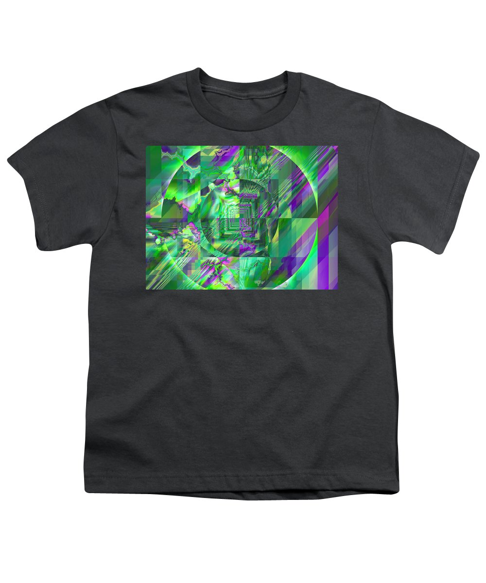 Fractal Youth T-Shirt featuring the digital art The Crazy Fractal by Frederic Durville