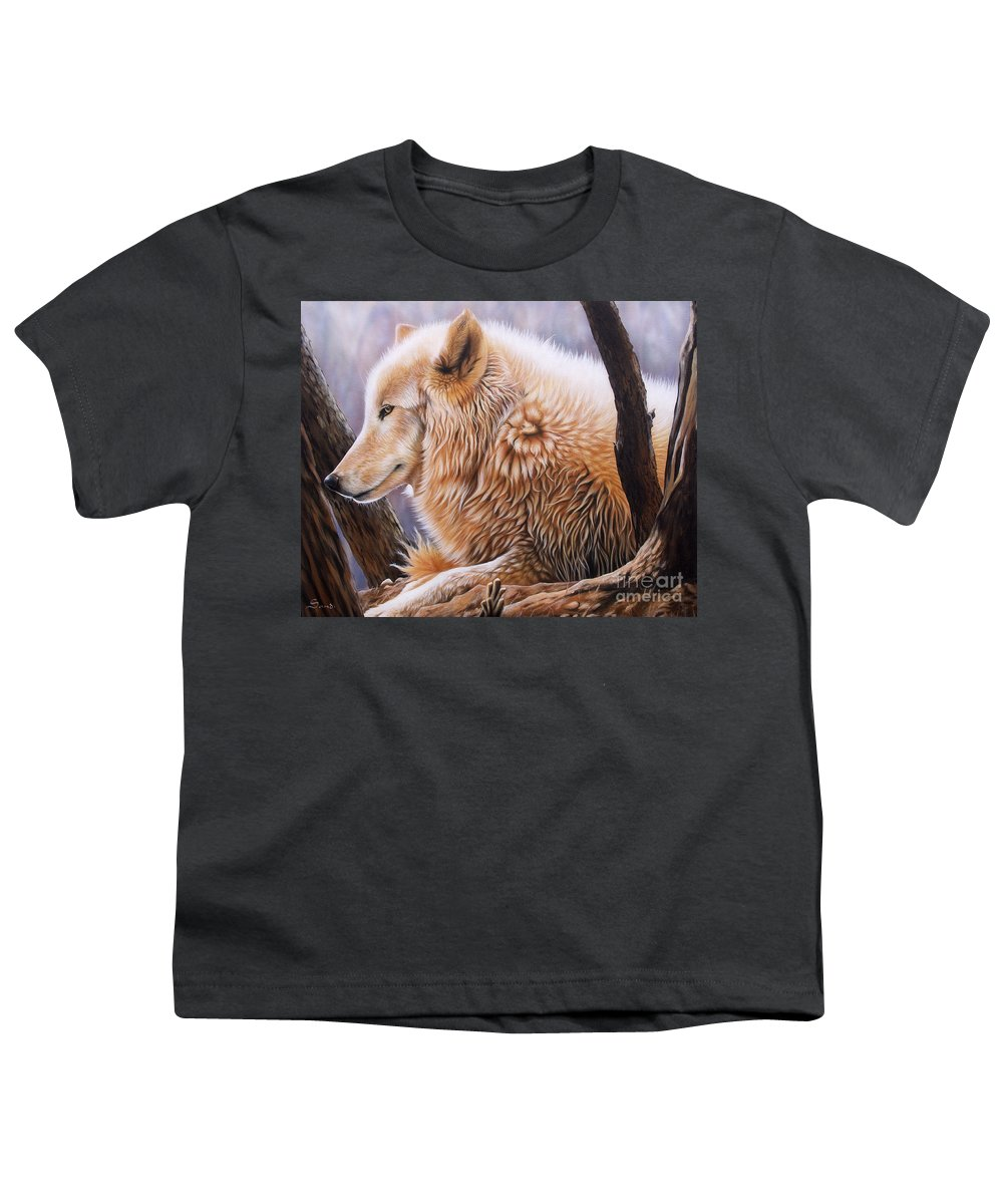 Acrylic Youth T-Shirt featuring the painting The Daystar by Sandi Baker