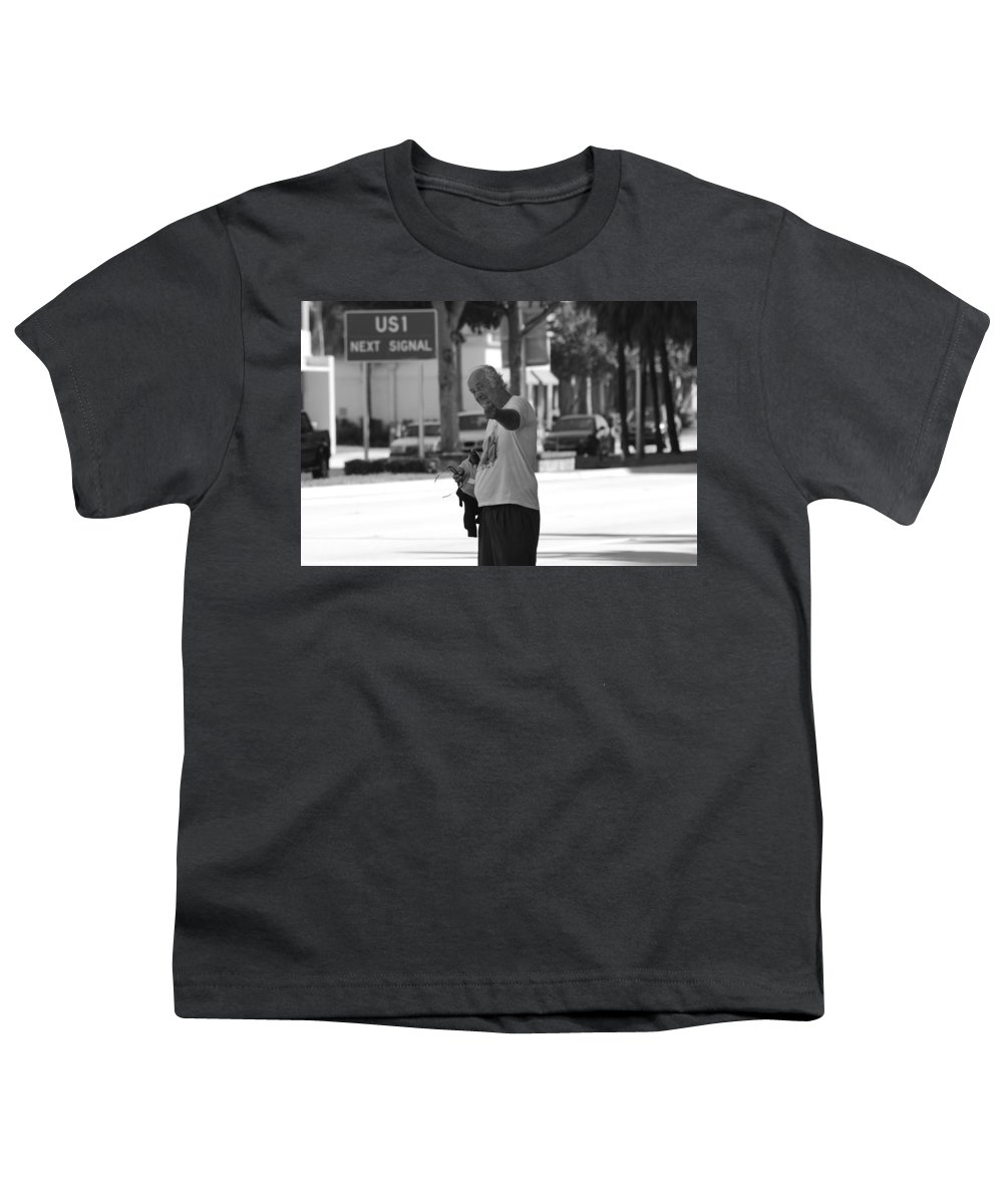 Black And White Youth T-Shirt featuring the photograph The Devil Man by Rob Hans