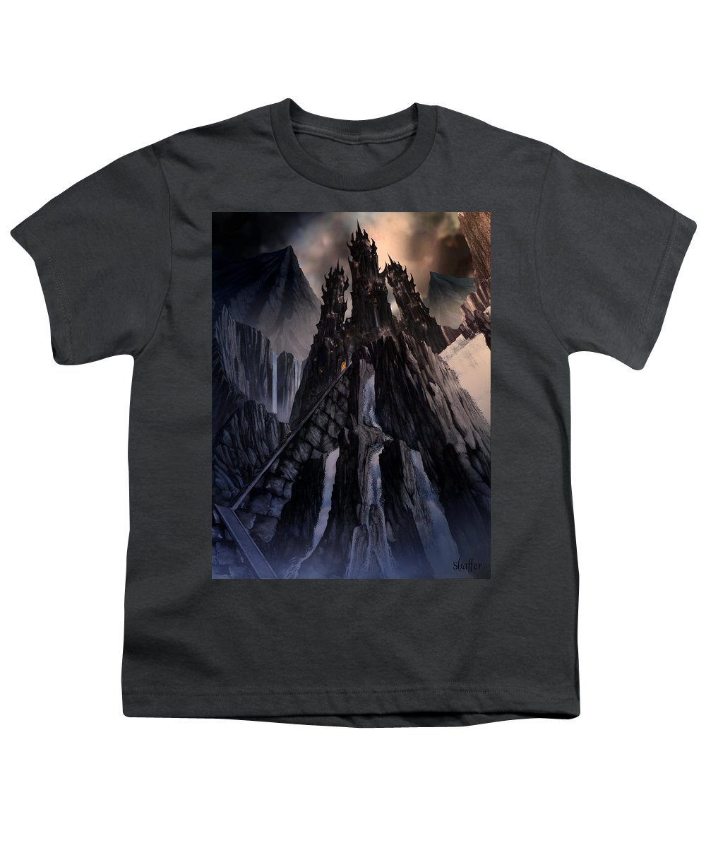 Architectural Youth T-Shirt featuring the mixed media The Dragon Gate by Curtiss Shaffer