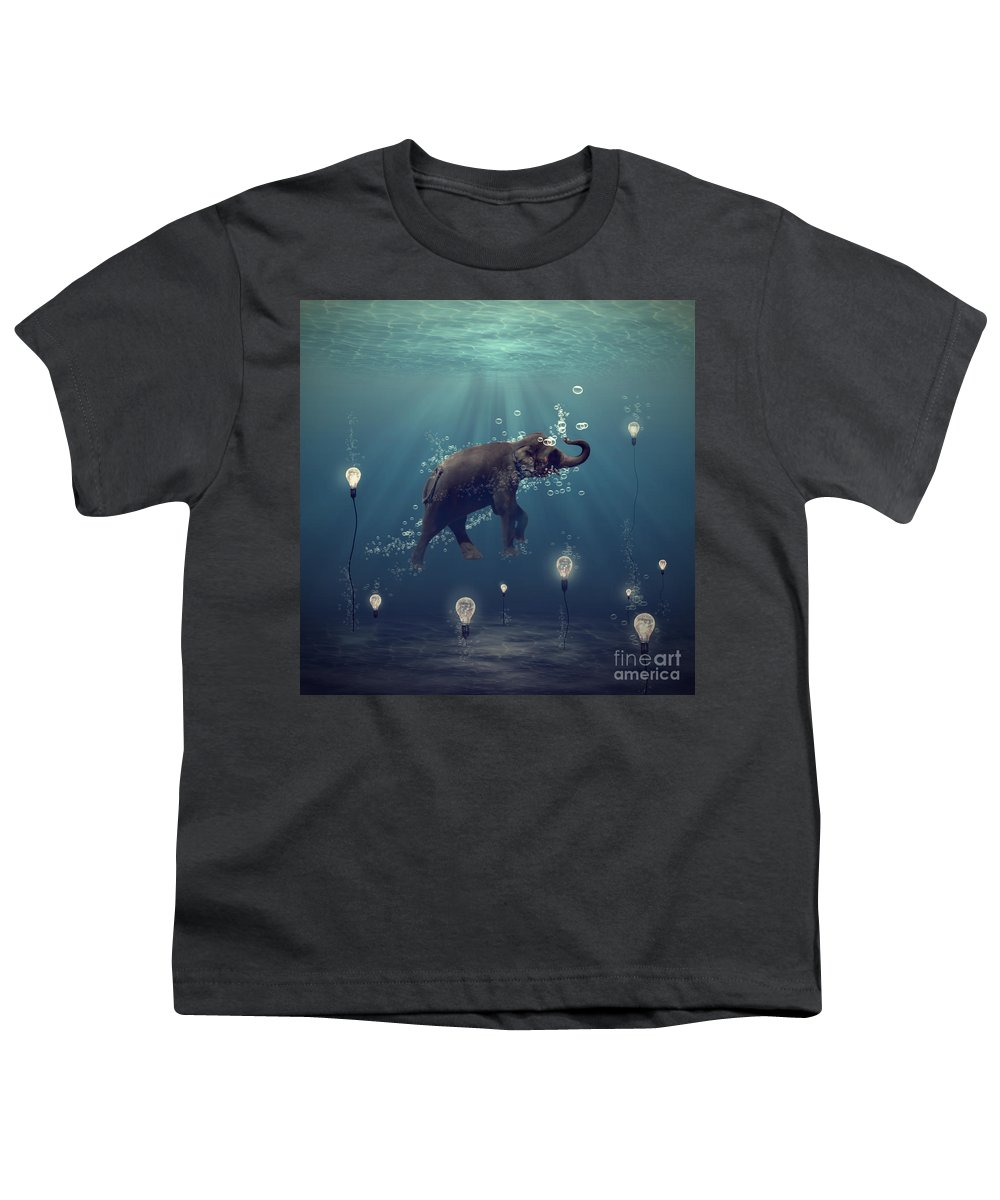 Elephant Youth T-Shirt featuring the photograph The Dreamer by Martine Roch