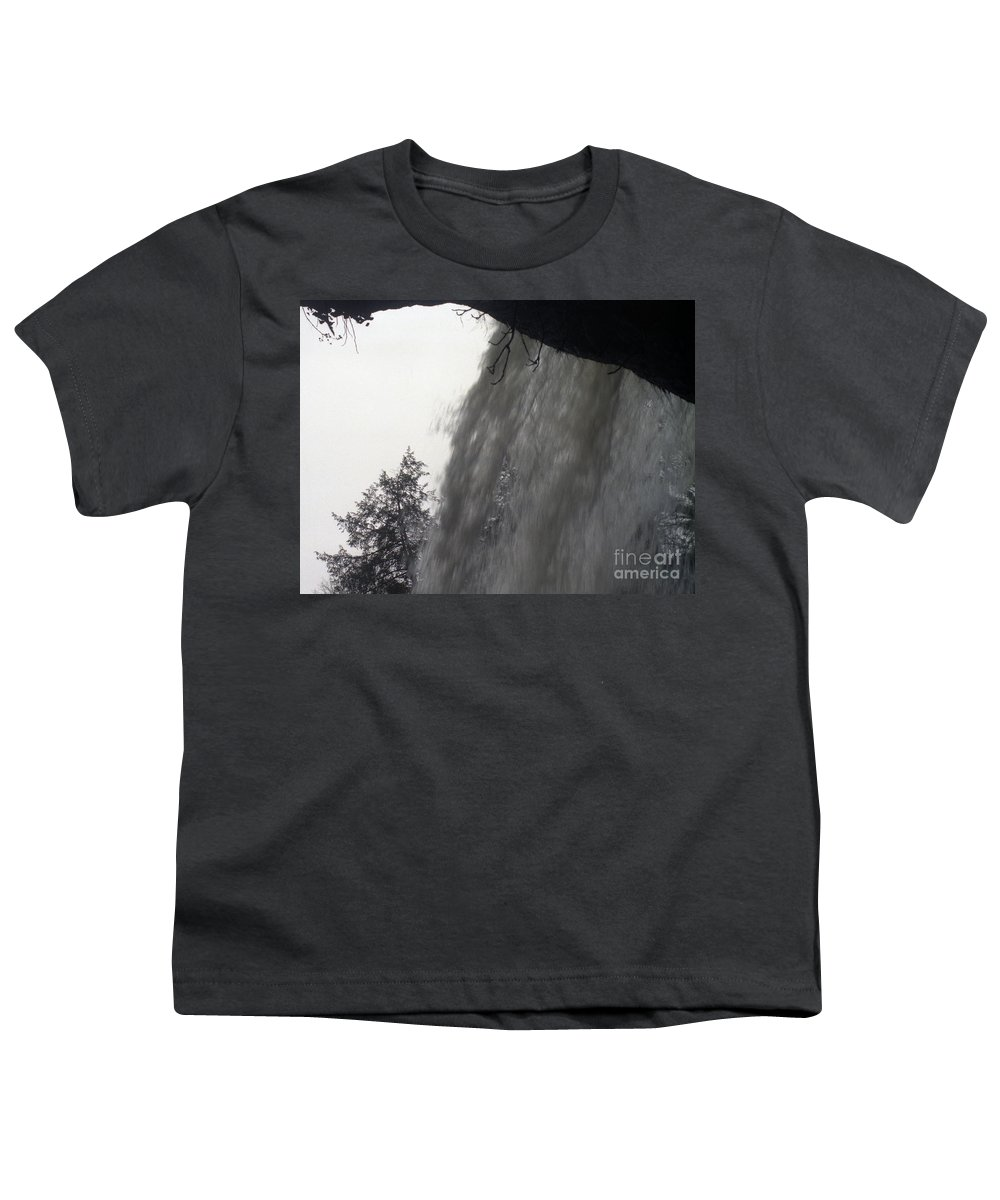 Waterfalls Youth T-Shirt featuring the photograph The Falls by Richard Rizzo